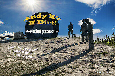 New! ©Andy K's K-Dirt Sample Pak Unsearched Arizona Pay Dirt + Added Gold