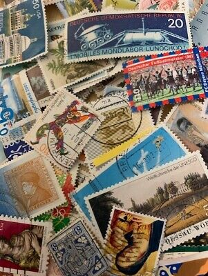 Collection Of 100 World Stamps, All Different, Used, Old & New