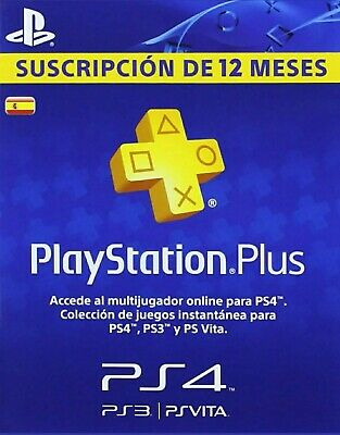 Playstation Plus 12 Meses (No Son Multiples Cuentas De 14 Dias)