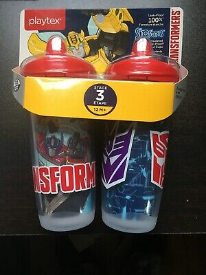Playtex Sipsters Spout Cup, Stage 3, Transformers, 9 oz, 2 Ct