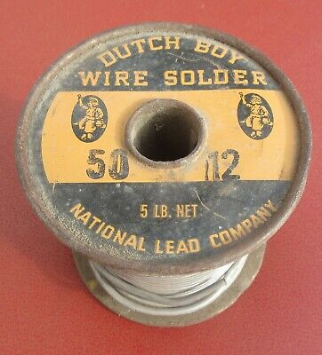 Vintage DUTCH BOY Wire Solder 50/12 National Lead Co