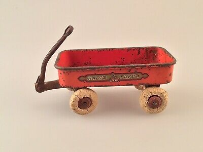 Antique Orange Miniature RADIO FLYER Wagon, Salesman's Sample, Nice