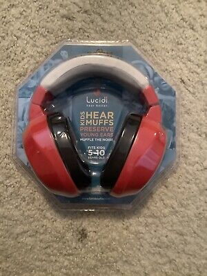 Lucid Audio Baby Hear Muffs Red Fits Kids 5-10 Years Old