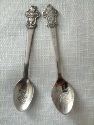 Lot of 2 ROLEX Bucherer of Switzerland Spoons -Lugano Spoon