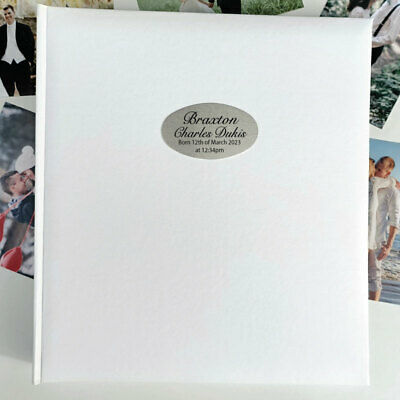 Baby Personalised Photo Album 500 White - Personalised Custom Gift