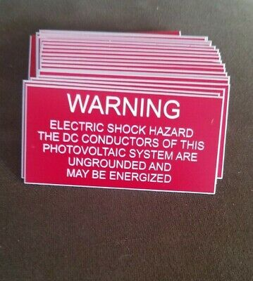 "Engraved Plastic Electrical Warning Label Placecard 1.5"" x 3"" Self Adhesive"