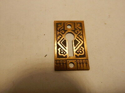 Antique Door Lock Key Hole Escutcheon Brass Eastlake (KH 38)