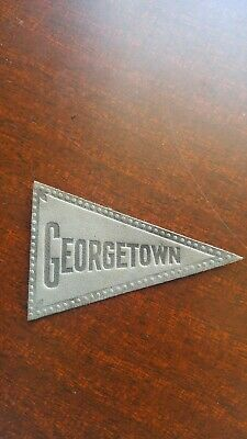 Antique Tobacco Cigarette Promo Leather College Pennant Patch Georgetown RARE!