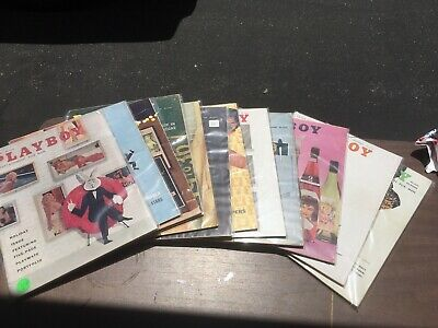 Playboy Magazine Full Year Set 1958 All 12 Issues. Complete Collection. Nude Lot