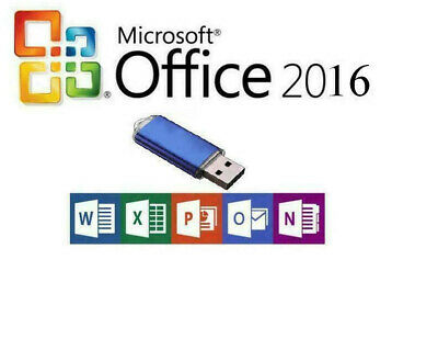 Microsoft Office 2016 Professional plus for 2 Computers on USB