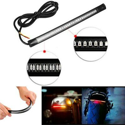 "Universal Motorcycle 8"" Flexible Tail Brake Stop Turn Signal License Plate Light"