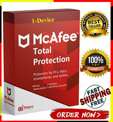 McAfee Total Protection 2020 Antivirus 🔥 1 Devices 5 Years ✅ Pc / Mac / mobile