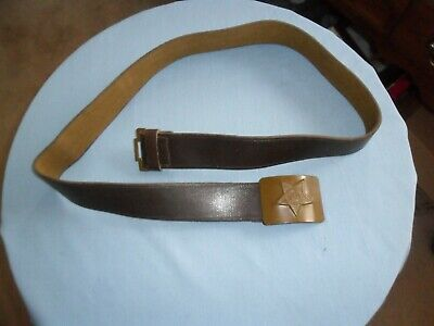 One Soviet Red Army Paratrooper Belt And Buckle