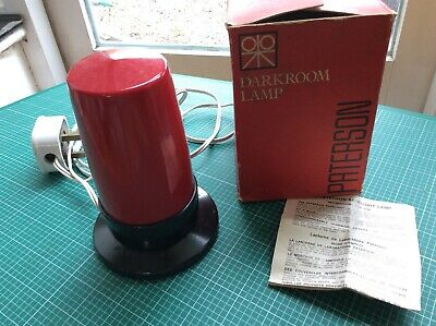 Paterson Darkroom Safelight Lamp - boxed, vintage