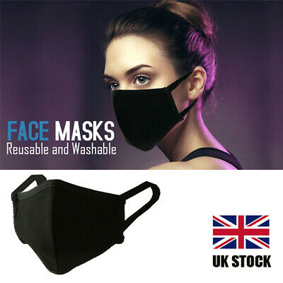 Adult Cotton Mix Fabric Face Mask Breathable Washable Durable High Quality