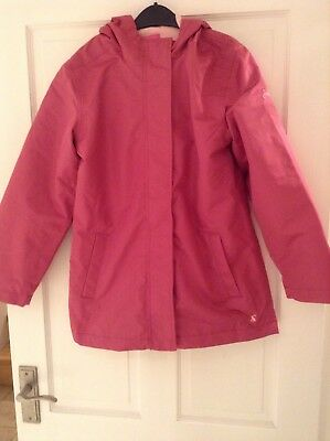 Joules Weatherproof Pink Hooded Coat Jacket. Fully Lined. Age 11 To 12 Years-New
