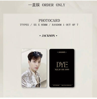 GOT7 DYE OFFICIAL PHOTO CARD YZY & JYP( Limited Edition) + ALBUM CARDS