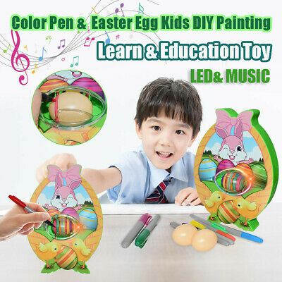 LED&MUSIC Electric DIY Painting Color Eggs Toy Kids Easter Eggs Education Toy AU