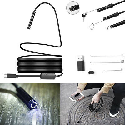 Megapixels HD USB C Endoscope Type C Borescope Inspection Camera for Android .
