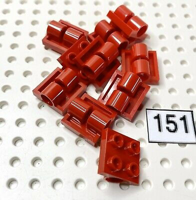 Lego Lot of 50 New Black Plates Modified 2 x 2 with Pin Holes Parts