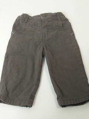 Boys Marks & Spencer Brown Adjustable Waist Chino Jeans Age 9-12 Months