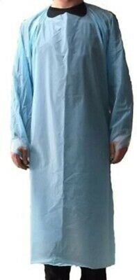 Pack of 100 Disposable Isolation Gowns – Embossed PE 0.10mm ECM Certified PPE