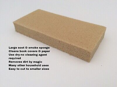 Large Dry Cleaning Sponge~Removes Soot & Smoke Damage, Cleans Books & Paper