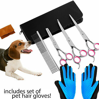 Pet Grooming Scissors Dog Cat Professional Curved Thinning Shear Hair Cutting