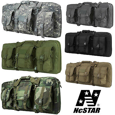 NcSTAR VISM Tactical Deluxe Weapons Double Compact Rifle Storage Range Case Bag