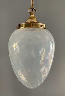 Large Opaque Pendant Ceiling Lights, 2 Available, Rewired