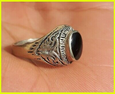 ancient antique silver solid legionary ring metal artifact amazing rare ring