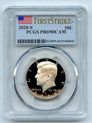 2020 S 50C Kennedy Half Dollar PCGS PR69DCAM First Strike