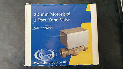 TOWER 22mm 2 Port Motorised Central Heating/Hot Water Zone Valve