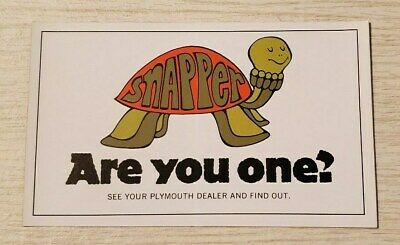 """Vintage """"Snapper, Are You One"""" Sticker Decal Original Plymouth Mopar"""
