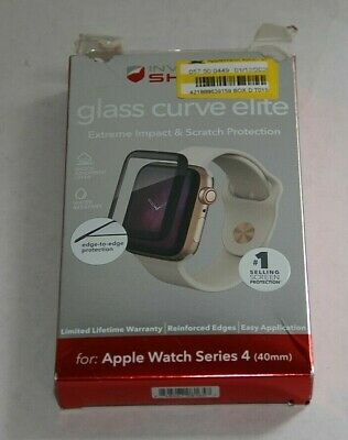 Zagg Glass Curve Elite Screen Protector For Apple Watch Series 4 (40mm)