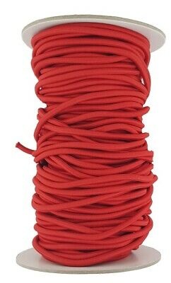 Elastic Cord 5 mm round sold in lengths of 2,3,4,5, Metres Red