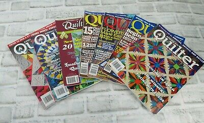 Lot of 7  AQ American Quilter and  Quilt Magazines Magazine Quilting Patterns