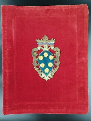 Royal Presentation Photograph MEDICI Document Tuscany Italy Royalty Document IT