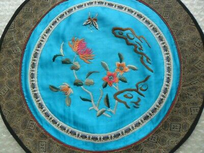 Chinese 100%Hand embroidered Peking Embroidery Art:butterfly flower