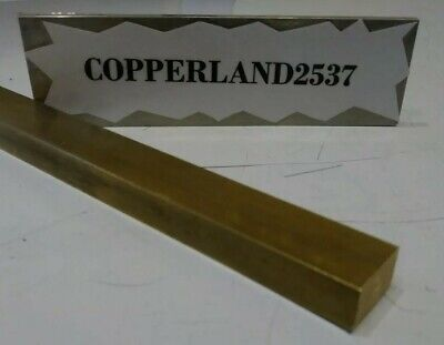 3/8X5/8X8 C360 yellow brass flat stock mill tool new solid block .375 X .625