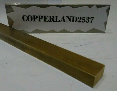 3/8X5/8X12 C360 yellow brass flat stock mill tool new solid block .375 X .625
