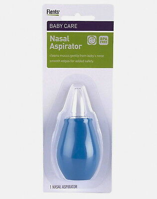 Baby Nasal Aspirator by Flents, Infant-Toddler Hygienic Snot Sucker FREE SHIP !