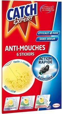CATCH Stickers Anti-Mouches - 6 Stickers Jaunes