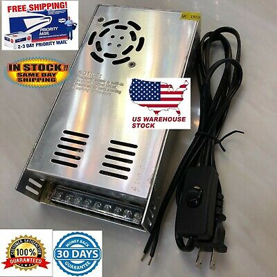 12V DC 30A  Power Supply 360W Cooling Fan Wired Wall Plug with on off switch