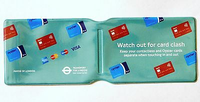 LONDON UNDERGROUND OYSTER CARE TRAVEL CARD TRAIN TICKET BUS PASS HOLDER COVER