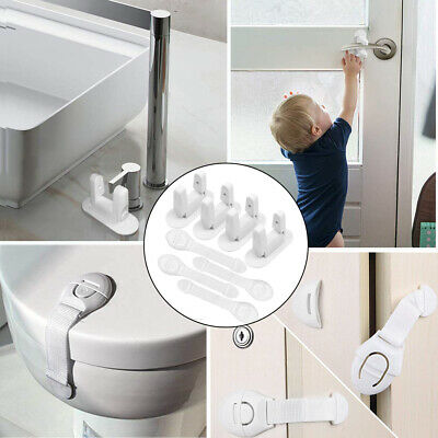 8PC Baby Proofing Safety Sets Kids Safe Proof Door Fridge Cupboard Cabinet Locks
