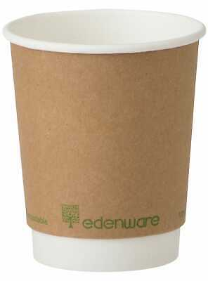 Edenware Compostable Double Wall Coffee Cup 8oz - 1x500