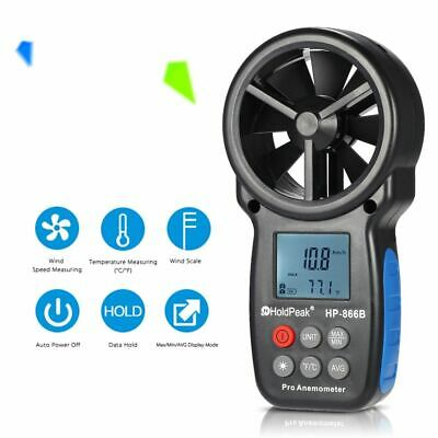 Digital Anemometer Thermometer LCD Wind Speed Air Velocity Temperature Measuring