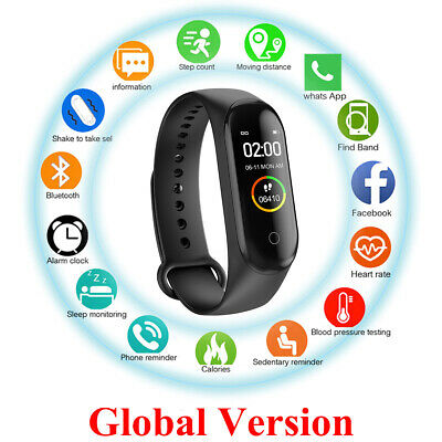 M4 Bluetooth 4.0 Smart Watch Sports Bracelet Fitness Tracker for iOS Android