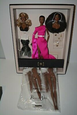 2017 Fashion Royalty W Club Faces of Adele Giftset NRFB & 2 Body Completer Pack*